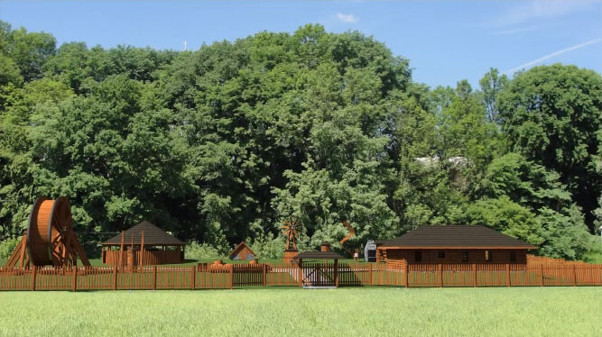 Park Edukacyjny w Skansenie Wsi Podgórzańskiej w Szymbarku
